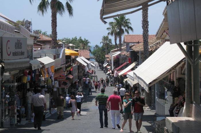 Сиде, Торговая улочка города