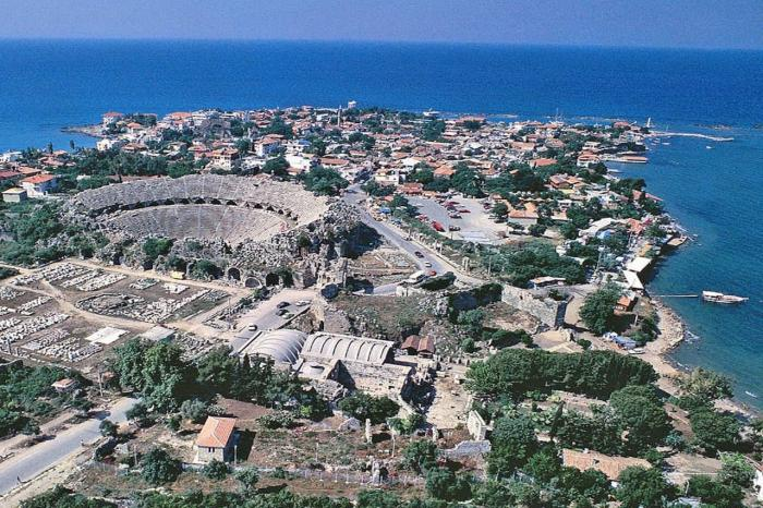 Сиде, Вид на старый город