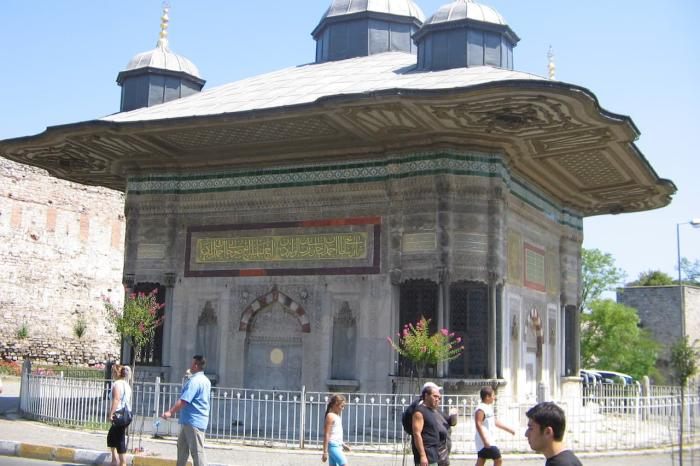 Погода в Стумбуле в декабре - Фонтана султана Ахмета