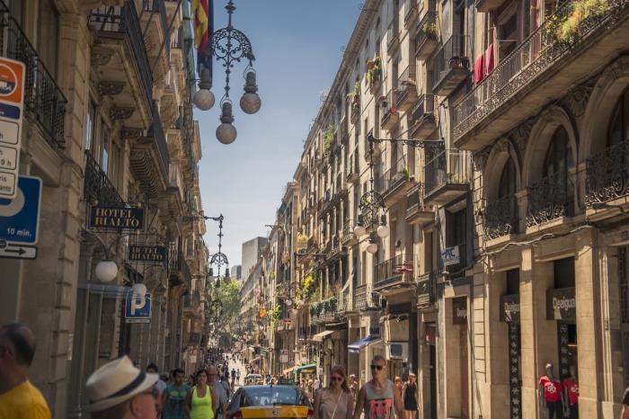 Испания, Готический квартал в Барселоне