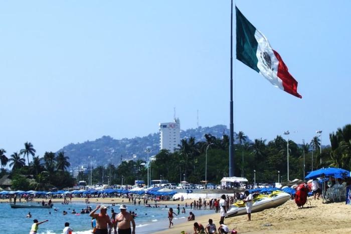 Мексика, Пляж в Акапулько
