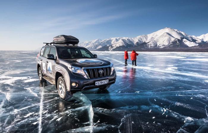 Байкал, Джиппинг на льду