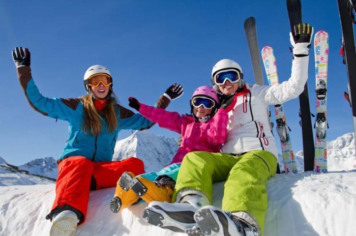 Сочи, катание на лыжах