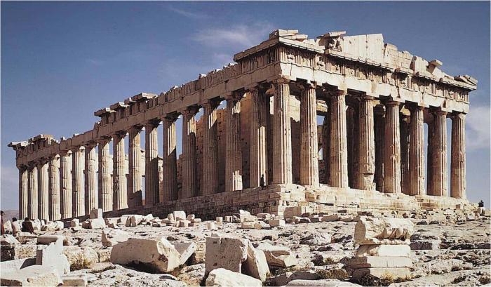 Греция, Древний храм Парфенон