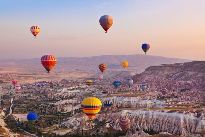 Турция, Экскурсия на воздушном шаре в Каппадокии