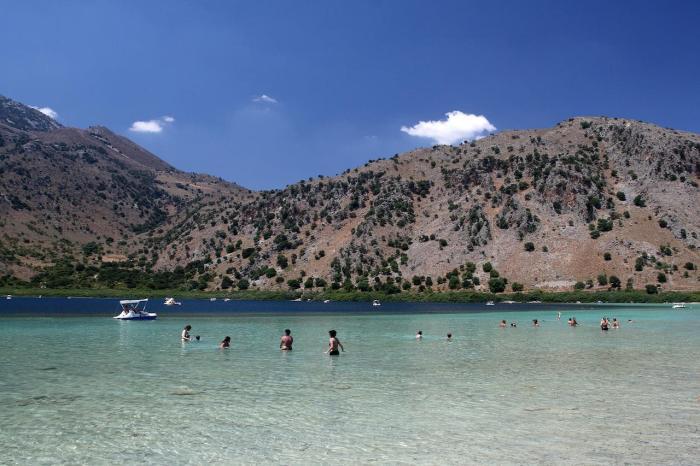 Крит, озеро Курнас