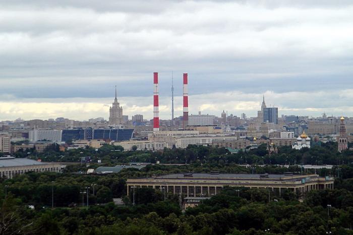 Москва и Подмосковье, Вид с Воробьёвых гор