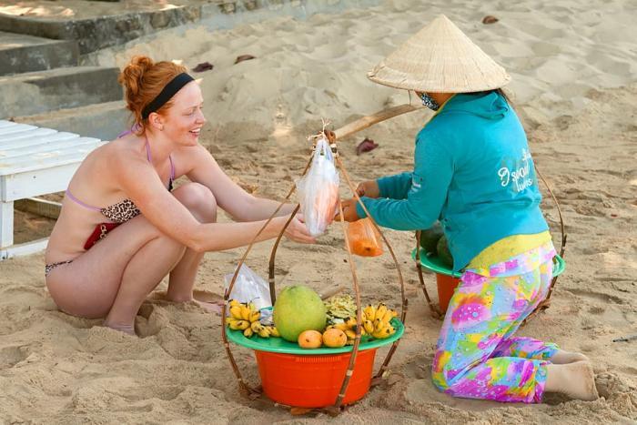 Фукуок, Местные торговци на пляже