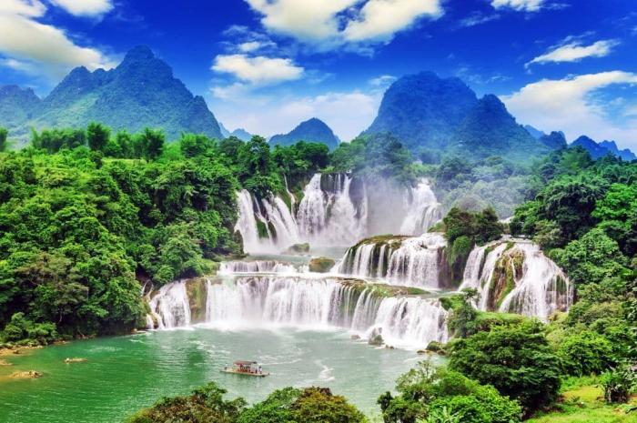 Вьетнам в мае - Водопад Банзёк