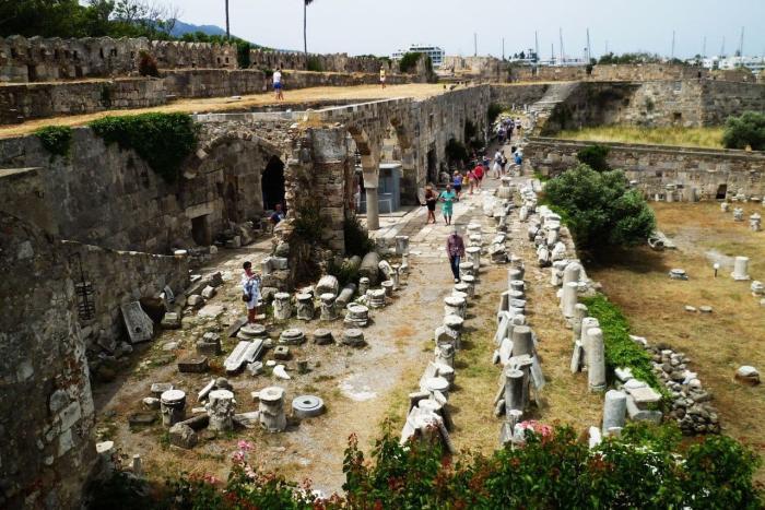 Погода на острове Кос в феврале - Замок рыцарей-иоаннитов