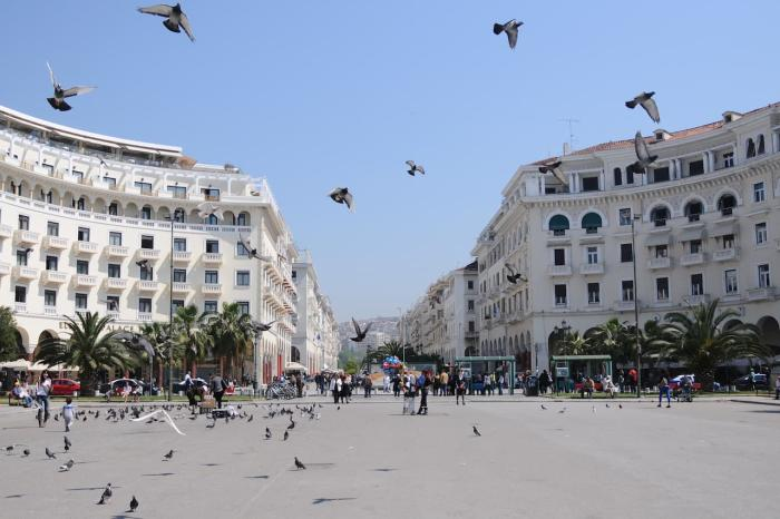 Греция Салоники Площадь Аристотеля
