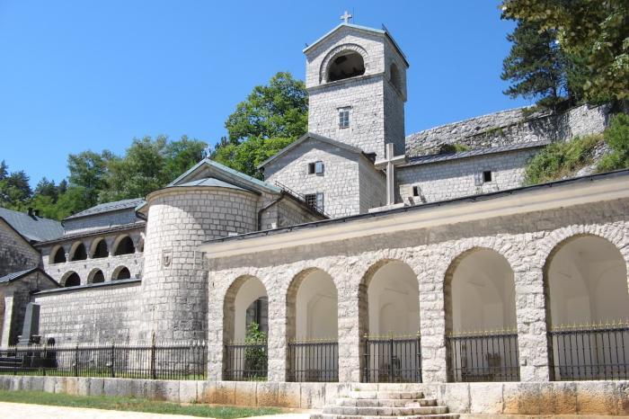 Черногория, Мужской монастырь в Цетине