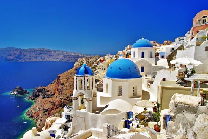 Греция, Романтичный остров Санторини