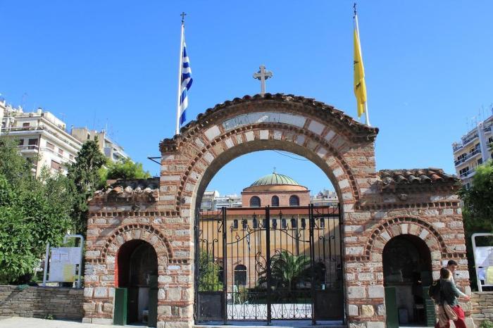 Греция Салоники Храм Святой Софии