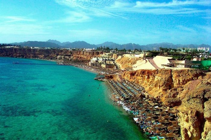 Погода в Эль-Гуне в октябре - Вид на пляж Эль-Гуна