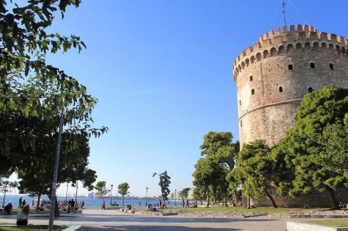 Салоники.Залив Термаикос.Белая башня