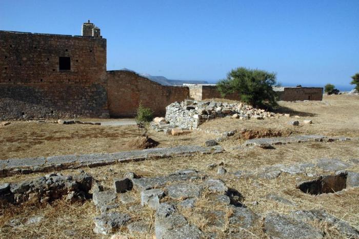 Погода на Крите в августе 2019 года, древний город Аптера