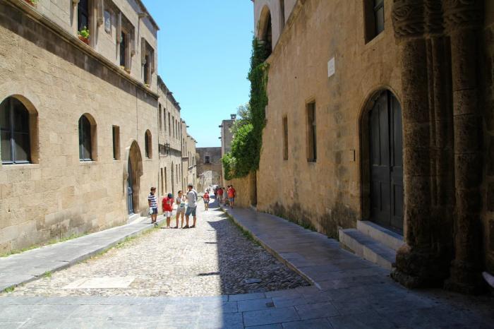 Родос, улица Рыцарей