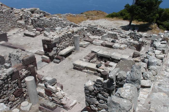 Санторини, античная Фира