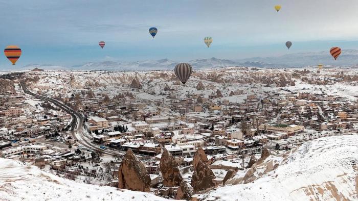 Турция в январе, Каппадокия в январе