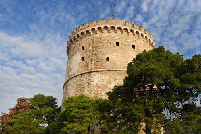 Погода в Салониках в октябре - Белая Башня в Салониках