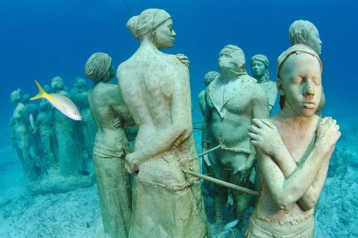 Мексика, Посмотрите Музей подводных скульптур, здесь 400 статуй
