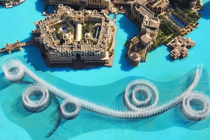 Дубаи, Музыкальный фонтан в Дубае