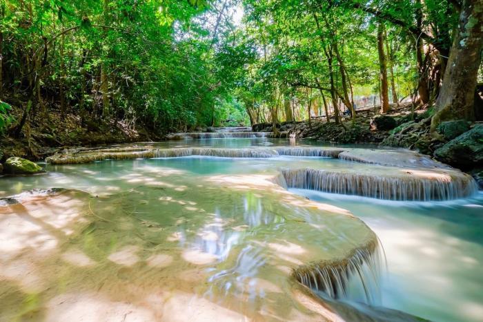 Тайланд, парк водопадов Эраван