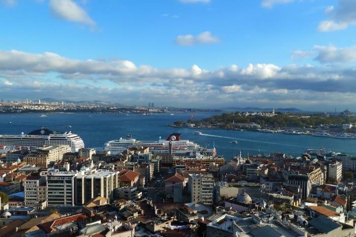 Стамбул, вид на пролив Босфор