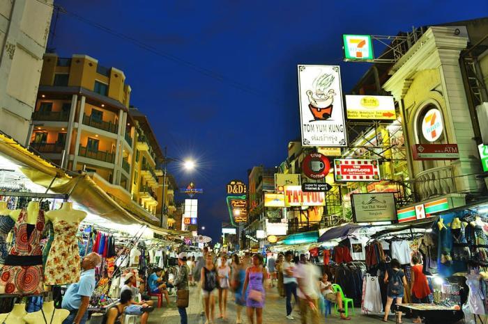 Бангкок, Каосан стрит