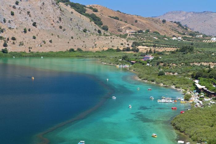 Погода на Крите в мае - Озеро Курнас