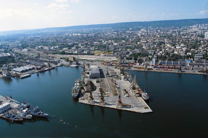 Болгария, Вид на порт города Варна
