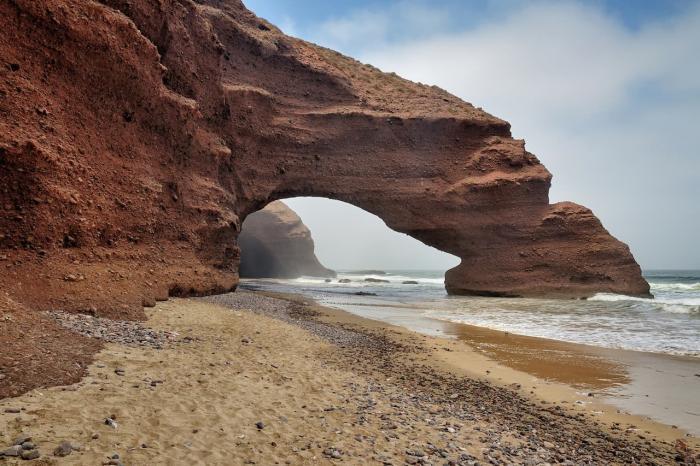 марокко, Пляж Лезгира в окрестностях курорта Агадира