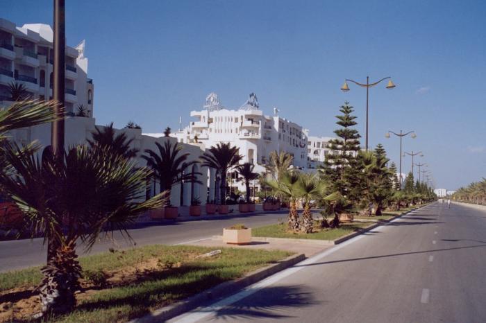 Тунис, Набережная курорта Хаммамет