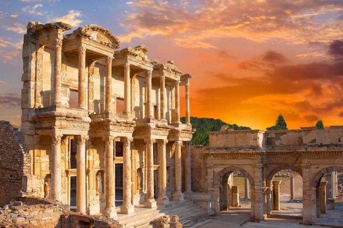 Турция, отправляйтесь посмотреть на Эфес
