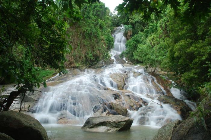 Погода на Самуи в ноябре - водопад На Муанг