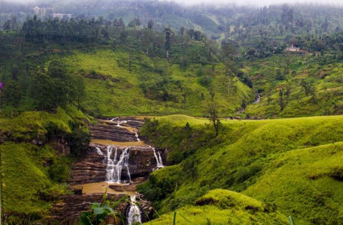 Шри-Ланка, водопад Сент-Клер